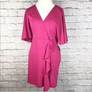NWT Free Press Pink Ruffle Dress